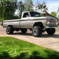 "1964 Chevrolet K10 Pickup - 15x14 -101.6mm - Bart Super Trucker - Suspension Lift 4"" - 33"" x 14"""