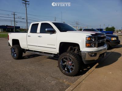 "2014 Chevrolet Silverado 1500 - 22x12 -51mm - ARKON OFF-ROAD Lincoln - Suspension Lift 9.5"" - 35"" x 12.5"""
