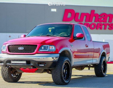 2000 Ford F-150 - 20x10 -24mm - XD Buck - Leveling Kit - 285/55R20