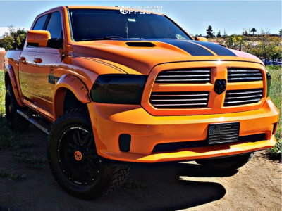"2015 Ram 1500 - 20x10 -24mm - Anthem Off-Road Enforcer - Suspension Lift 4"" - 35"" x 12.5"""
