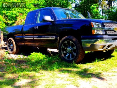 "2005 Chevrolet Silverado 1500 - 20x9 0mm - American Eagle 50 - Suspension Lift 3"" - 265/50R20"