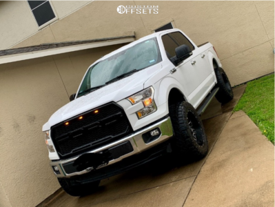 """2017 Ford F-150 - 20x10 -18mm - Fuel Lethal - Suspension Lift 4.5"""" - 33"""" x 12.5"""""""