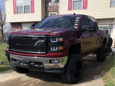 "2014 Chevrolet Silverado 1500 - 20x12 -44mm - Red Dirt Road Rd01 - Stock Suspension - 33"" x 12.5"""