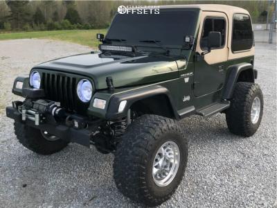 "1997 Jeep Wrangler - 15x12 -73mm - Mickey Thompson Classic Iii - Suspension Lift 4"" - 33"" x 12.5"""