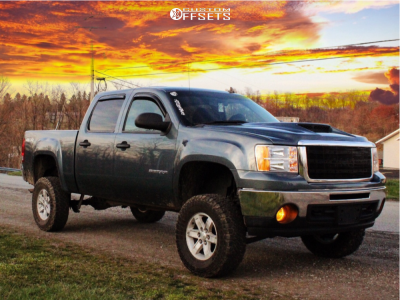 """2013 GMC Sierra 1500 - 17x7.5 31mm - Spaced Out Stockers Spaced Out Stockers - Suspension Lift 7.5"""" - 285/70R17"""
