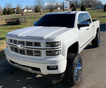 "2015 Chevrolet Silverado 1500 - 22x12 -44mm - Mayhem Arsenal - Suspension Lift 4.5"" - 33"" x 12.5"""
