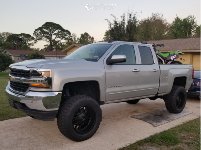 "2018 Chevrolet Silverado 1500 - 20x10 -19mm - Mayhem Cogent - Suspension Lift 6"" - 35"" x 12.5"""