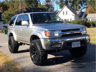 "2002 Toyota 4Runner - 16x9 -12mm - Helo He878 - Suspension Lift 3"" - 285/75R16"