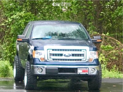 """2013 Ford F-150 - 22x10 -18mm - Fuel Triton - Leveling Kit - 33"""" x 12.5"""""""