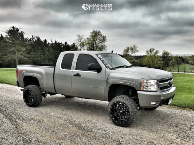 "2008 Chevrolet Silverado 1500 - 20x12 -44mm - Ballistic Rage - Suspension Lift 6"" - 275/55R20"