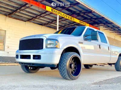 2006 Ford F-250 Super Duty - 22x12 -51mm - Vision Rocker - Lowered on Springs - 305/45R22