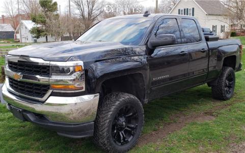 """2018 Chevrolet Silverado 1500 - 20x10 -18mm - Fuel Vapor - Suspension Lift 5"""" - 33"""" x 12.5"""""""