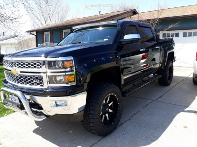"2014 Chevrolet Silverado 1500 - 20x10 -24mm - Fuel Maverick - Suspension Lift 6"" - 35"" x 12.5"""