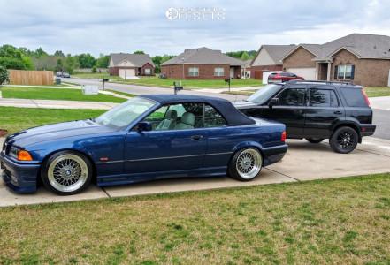 1998 BMW 328i - 17x8.5 15mm - JNC Jnc004 - Lowering Springs - 215/40R17