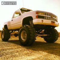 """1990 Chevrolet K1500 - 16.5x14 -45mm - Weld Racing Scorpio  - Lifted >9"""" - 40"""" x 18.5"""""""