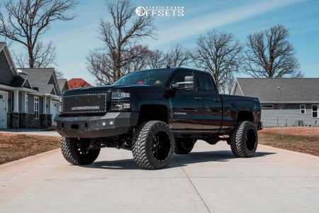 "2014 Chevrolet Silverado 1500 - 22x14 -76mm - Dropstar 652bm - Suspension Lift 9"" - 37"" x 13.5"""
