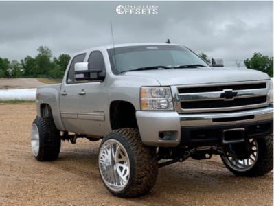 "2011 Chevrolet Silverado 1500 - 24x16 -101mm - American Force Trax Ss - Suspension Lift 8"" - 35"" x 13.5"""