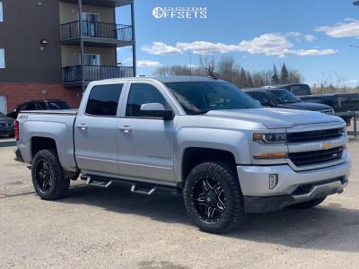 "2018 Chevrolet Silverado 1500 - 20x9 1mm - Fuel Full Blown - Suspension Lift 2.5"" - 275/60R20"