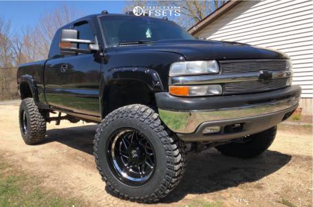 "2001 Chevrolet Silverado 1500 - 20x12 -44mm - Dropstars 657bm - Suspension Lift 12"" - 37"" x 12.5"""