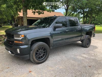 2017 Chevrolet Silverado 1500 - 22x10 -18mm - XD XD828 - Leveling Kit - 275/60R22