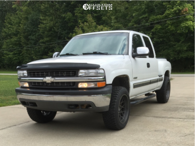 2001 Chevrolet Silverado 1500 - 20x10 -25mm - Toxic Punisher - Leveling Kit - 275/55R20