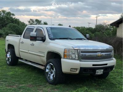 "2011 Chevrolet Silverado 1500 - 20x12 -44mm - Hostile Hammered - Body Lift 3"" - 305/50R20"