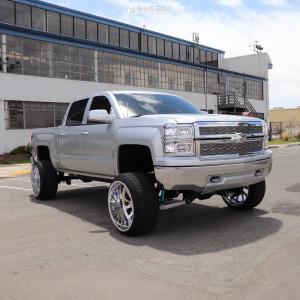 "2014 Chevrolet Silverado 1500 - 24x14 -73mm - American Force Octane Ss - Suspension Lift 8"" - 305/35R24"