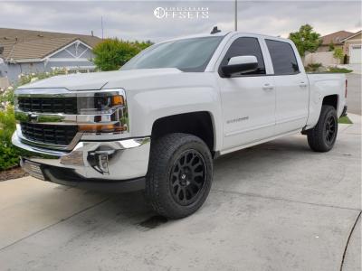 2017 Chevrolet Silverado 1500 - 20x9 1mm - Fuel Vector - Leveling Kit - 275/60R20