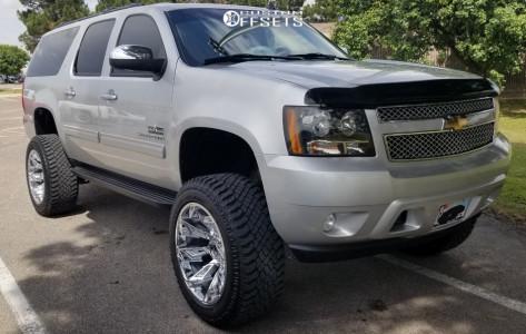 "2011 Chevrolet Suburban 1500 - 22x12 -44mm - Gear Off-Road Slayer - Suspension Lift 8.5"" - 325/50R22"
