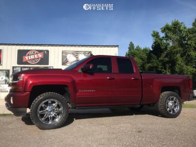 "2016 Chevrolet Silverado 1500 - 20x9 -12mm - Fuel Hostage D530 - Leveling Kit - 33"" x 12.5"""