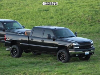 "2004 Chevrolet Silverado 2500 HD - 20x12 -44mm - TIS 544 - Leveling Kit - 33"" x 12.5"""