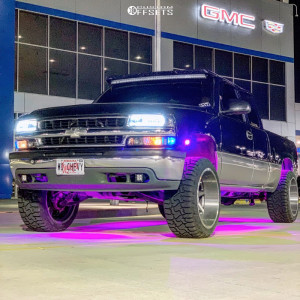 "2000 Chevrolet Silverado 1500 - 22x12 -40mm - Asanti Offroad Ab814 - Level 2"" Drop Rear - 33"" x 12.5"""