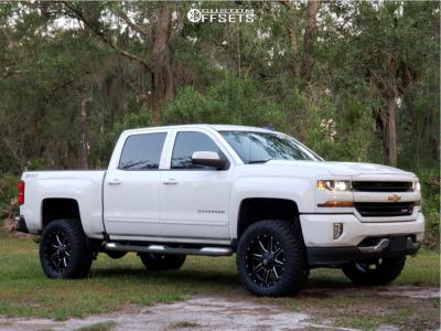 "2016 Chevrolet Silverado 1500 - 20x10 -12mm - Fuel Maverick - Suspension Lift 5"" - 295/65R20"