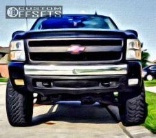"2008 Chevrolet Silverado 1500 - 20x9 2mm - XD Rockstar II - Suspension Lift 7.5"" - 35"" x 12.5"""