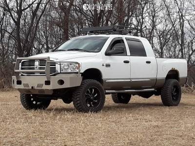 "2008 Dodge Ram 3500 - 20x10 -19mm - Hardrock Devious - Suspension Lift 4.5"" - 35"" x 12.5"""