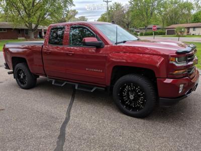 2018 Chevrolet Silverado 1500 - 20x9 12mm - Scorpion Sc17 - Leveling Kit - 275/60R20