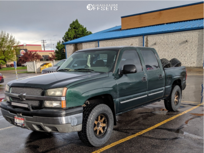 2005 Chevrolet Silverado 1500 - 17x9 -6mm - Mayhem Prodigy - Stock Suspension - 265/70R17
