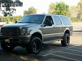 "2003 Ford Excursion - 18x10 -24mm - Moto Metal MO970 - Suspension Lift 4"" - 305/70R18"