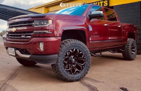 "2017 Chevrolet Silverado 1500 - 20x10 -18mm - Fuel Assault - Suspension Lift 5"" - 35"" x 12.5"""