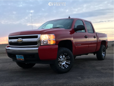 "2008 Chevrolet Silverado 1500 - 17x9 -6mm - Pro Comp Series 01 - Suspension Lift 3.5"" - 255/80R17"