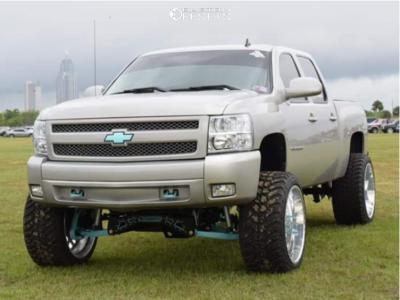 "2007 Chevrolet Silverado 1500 - 24x14 -73mm - American Force Flux Ss - Suspension Lift 8"" - 35"" x 13.5"""