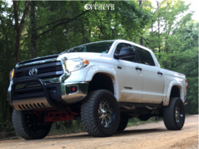 """2014 Toyota Tundra - 22x10 -13mm - Fuel Cleaver D240 - Suspension Lift 7.5"""" & Body 3"""" - 37"""" x 12.5"""""""