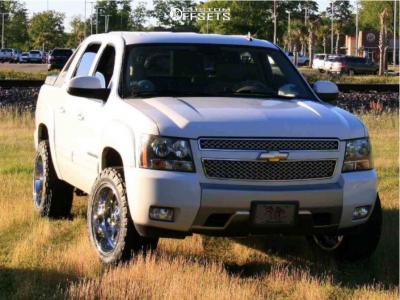 2010 Chevrolet Avalanche - 20x10 -18mm - Fuel Triton - Leveling Kit - 275/55R20