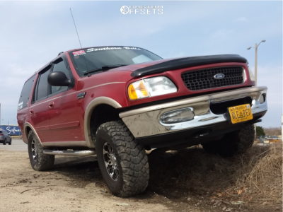 """1997 Ford Expedition - 16x8 0mm - Vision Warrior - Suspension Lift 3"""" - 315/75R16"""