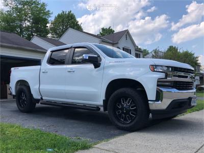 2019 Chevrolet Silverado 1500 - 20x9 18mm - Mayhem Cogent - Leveling Kit - 275/60R20