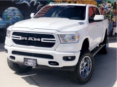 """2019 Ram 1500 - 20x10 -25mm - Gear Off-Road Kickstand - Suspension Lift 6"""" - 35"""" x 12.5"""""""