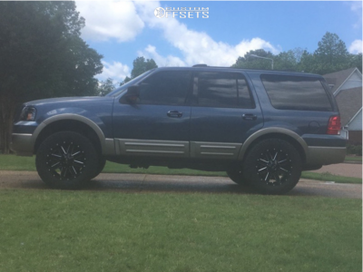 """2004 Ford Expedition - 20x9 0mm - Alloy Ion Style 141 - Leveling Kit - 35"""" x 12.5"""""""