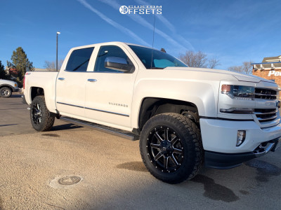 2018 Chevrolet Silverado 1500 - 20x9 20mm - Fuel Maverick D538 - Leveling Kit - 275/60R20