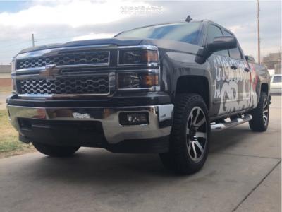 2015 Chevrolet Silverado 1500 - 20x9 18mm - Mb Wheels Legacy - Leveling Kit - 275/55R20