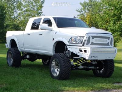 "2014 Dodge Ram 2500 - 24x14 -76mm - Forgiato Canale-T - Suspension Lift 12"" - 40"" x 15.5"""
